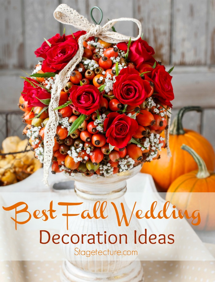 tips for the best fall wedding decorations. Black Bedroom Furniture Sets. Home Design Ideas