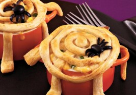 Halloween Spider Webbed Chicken Pot Pie Recipe