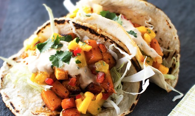 Autumn Butternut Squash Tacos with Avocado Recipe