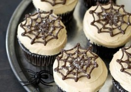 Halloween Chocolate Spider Web Cupcakes Recipe
