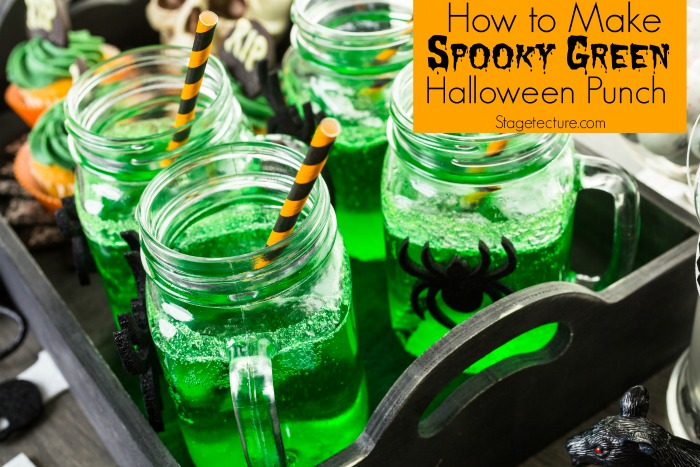 green halloween punch recipe