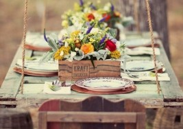 How to Create a Rustic Outdoor Table Setting