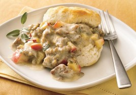 Country Biscuits with Warm Apple and Sausage Gravy Recipe