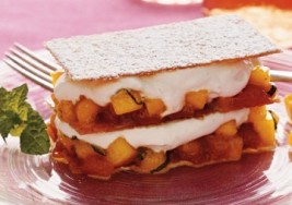 Holiday Mango Napoleons with Caramel and Cream Recipe