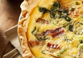 Smoked Bacon & Swiss Cheese Quiche Recipe