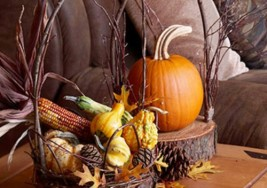 Thanksgiving Staircase Decoration Ideas