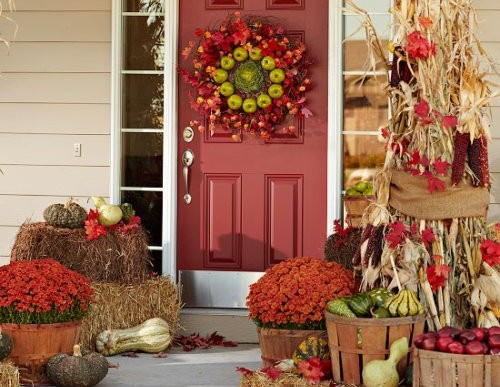 How To Decorate Your Front Porch For Thanksgiving