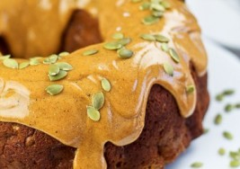 Glazed Pumpkin Mascarpone Bundt Cake Recipe