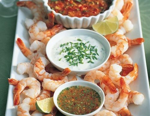 Festive Holiday Shrimp Cocktail Dip Recipe