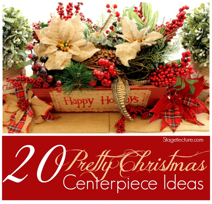 christmas centerpieces ideas for your dining room, Beautiful flower