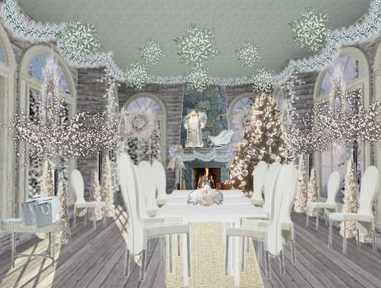 Olioboard inspiration christmas party theme ideas for All white party decoration ideas