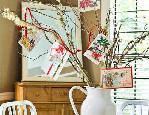 Display your Holiday Cards: DIY Christmas Card Tree