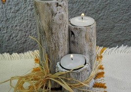 Winter DIY Project: Illuminating Branch Candle Holders