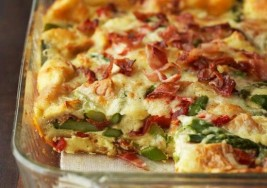 Savory Green Chile & Bacon Strata Bake Recipe