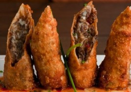 Super Bowl Appetizers: Cheesesteak Egg Rolls Recipe