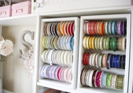 Craft Supplies Organization: Creative DIY Ribbon Holders