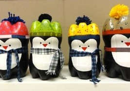 Kids Winter Crafts: Soda Bottle Penguins