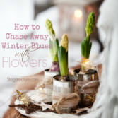 winter blues flower home decor