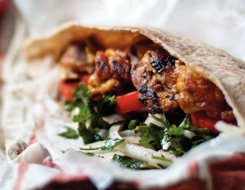Peppery Chicken Shawarma Pita Pocket Recipe
