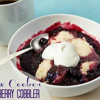 How to Perfect a Slow Cooker Blueberry Cobbler