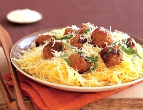 Comfort Food: Spaghetti Squash and Meatballs Recipe