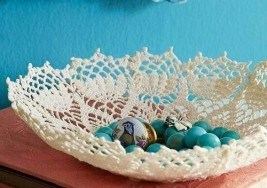 DIY Craft: How to Make Lace Doily Bowls