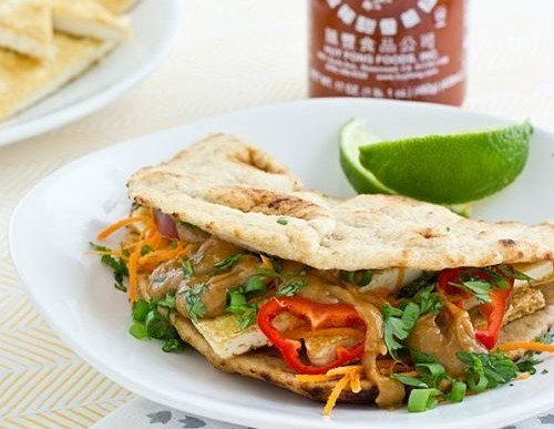 Crisp Tofu Sandwich with Peanut-Ginger Sauce Recipe