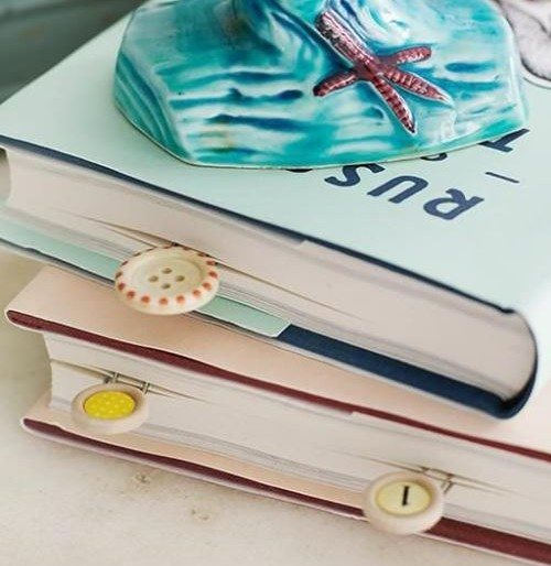 DIY Craft: How to Make Colorful Button Bookmarks