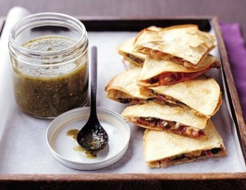 Vegetarian Delight: Spinach & Mushroom Quesadillas Recipe