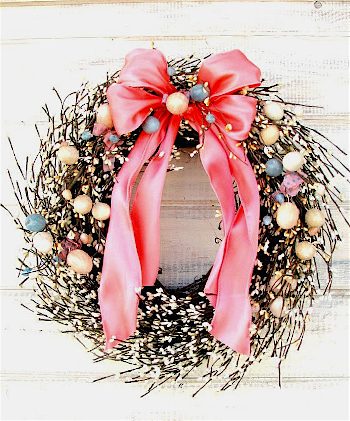 Easter Egg Grapevine Wreath