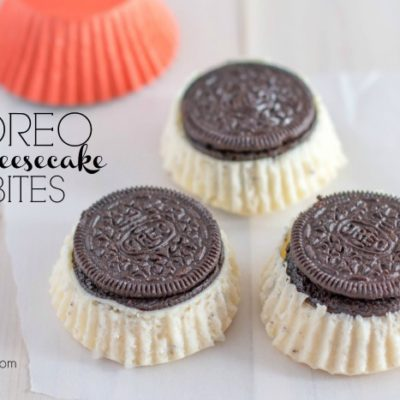 Easy Dessert: Oreo Cheesecake Bites Recipe
