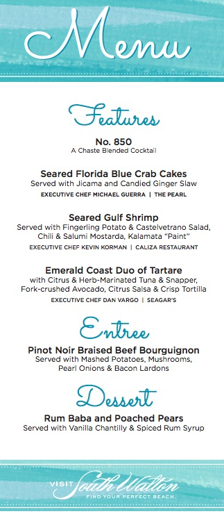 South Walton Beach Menu_BlogHerFood