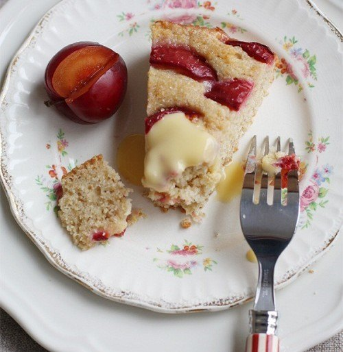 Summer Dessert: Juicy Ripened Plum Cake Recipe