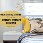 college dorm room decor tips