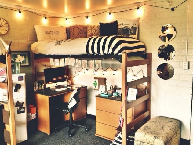 Simple ways to decorate your dorm room for Hall room decoration ideas