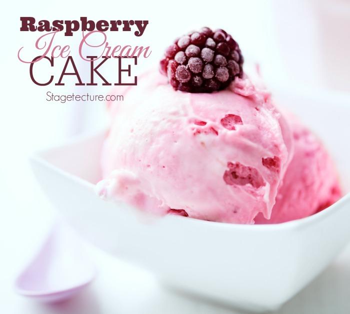 raspberry ice cream cake