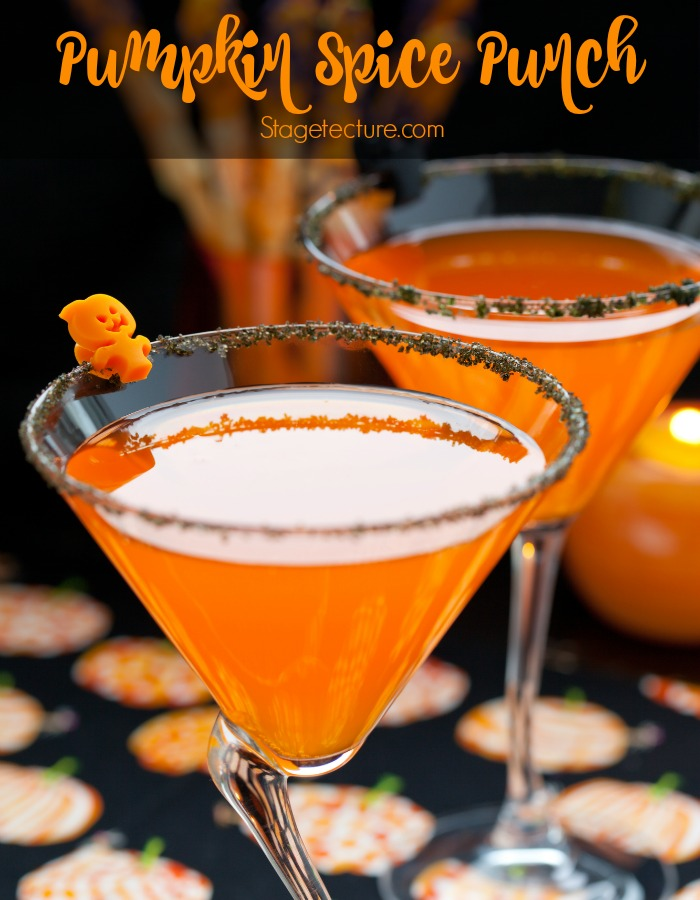 Halloween pumpkin spice punch