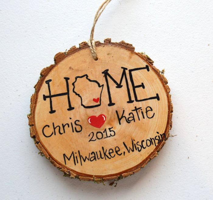 Painted Wood Slice Ornaments