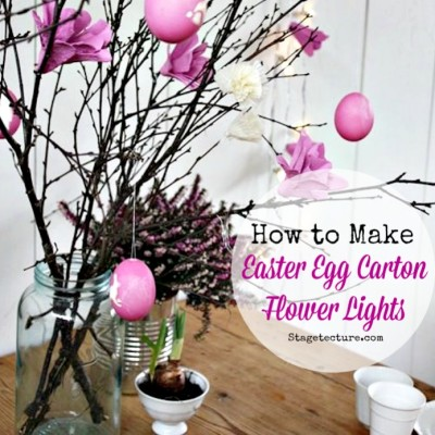Easter Decorations: How to Make Egg Carton Flower Lights