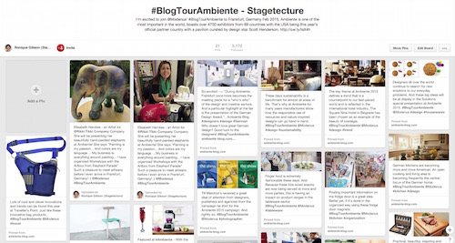 Pinterest BlogTourAmbiente Stagetecture