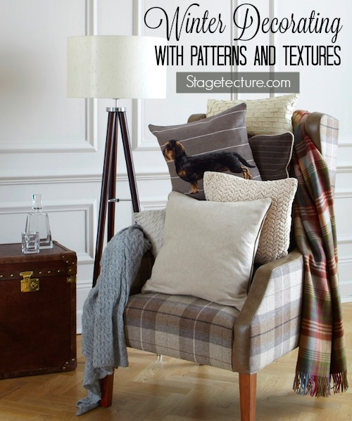 home decor: decorating with winter patterns and textures