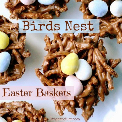 How to Make Birds Nest Easter Baskets Desserts