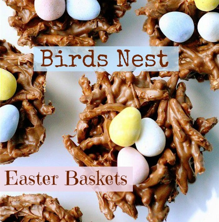 Easter baskets birds nests