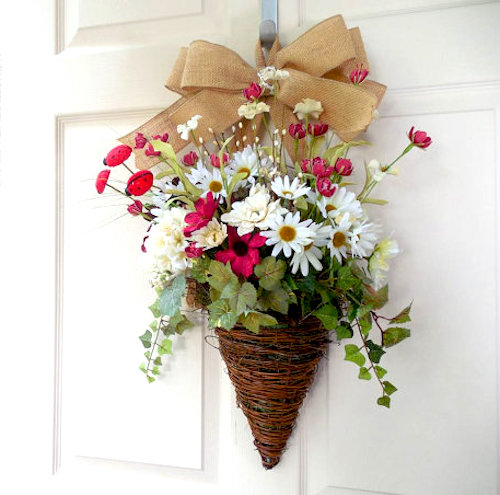 flower baskets wreath