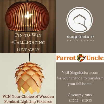Win A Parrot Uncle Wooden Lamp in the #FallHome Lighting Giveaway