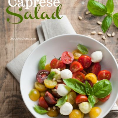 Summer Recipe: Easy Caprese Salad with Pasta
