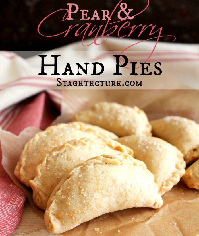 pear cranberry berry pies