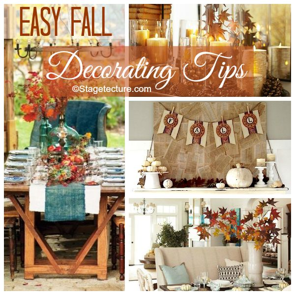 Stagetecture Easy Fall Decorating Tips