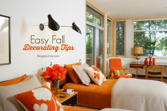 round up ideas easy fall decorating tips. Black Bedroom Furniture Sets. Home Design Ideas