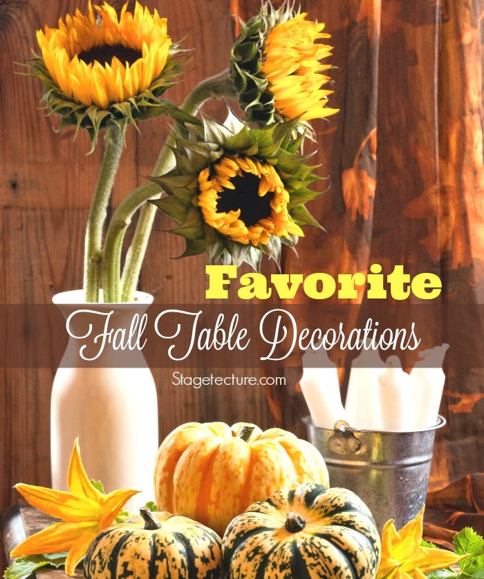 Favorite fall table decorations